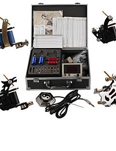 professionelle tatovering maskine kits med 4 stål tatovering maskiner kanoner
