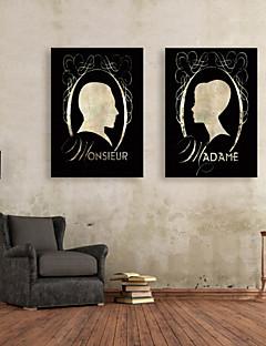 e-home® lona esticada arte imagem de perfil set pintura decorativa de 2