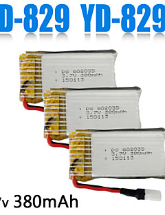 3pcs / pack 3.7v 380mah batterie lipo m-829.yd829c quadcopter drone batteries d'origine