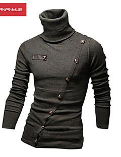 MANWAN WALK®Men's Obique Stitching High Collar Pullover Polos.