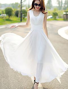 Sukienka - Obuwie damskie Maxi - Bez rękawów - Komża