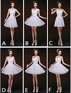 mix& match kjoler kort / mini chiffon 6 stilarter brudepige kjoler (2.840.133)