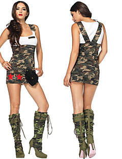 Camouflage with Shoulder Straps Female Policewoman Uniforms