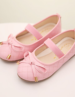 Girls' Shoes Wedding/Outdoor/Dress/Casual Comfort/Round Toe/Closed Toe Faux Leather Flats Black/Pink/White