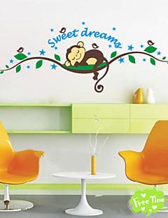 dulces pegatinas de dibujos animados mono de ensueño para los cabritos sitio decoraciones para el hogar zooyoo1203 arte mural calcomanía