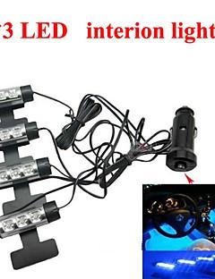 Car Dash Floor LED Interior Decoration LED Light Strip Lamp Blue for Most Cars