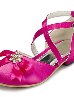 Girls' Shoes Wedding/Party & Evening Round Toe Satin Pumps/Heels Pink