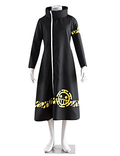 Inspired by One Piece Trafalgar Law 2 Years Later Cosplay Cloak Anime Cosplay Costumes Cosplay Suits Print Long Sleeve Coat For Male Female