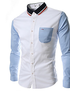 MEN - 캐쥬얼 긴소매 - 캐쥬얼 셔츠 ( 면 )