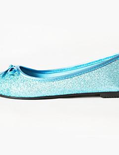Tasapohjakengät - Glitter - Sininen - Comfort/Ballerina/Pyöreäkärkiset/Suljettu kärki