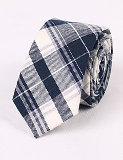 Blue And Gray Cotton Fine Grid Tie