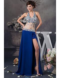 Vestito - Royal Blue Sera Trapezio Anello A Terra Raso/Tulle