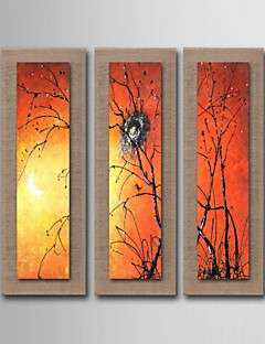 Oil Painting Decoration Scenery Hand Painted Canvas with Stretched Framed - Set of 3