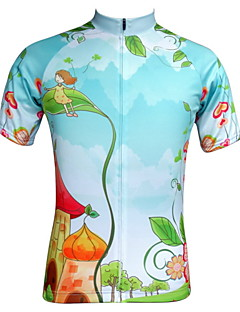 JESOCYCLING® Cycling Jersey Women's Short Sleeve Bike Breathable / Quick Dry / Ultraviolet Resistant / Front Zipper / Back PocketJersey /
