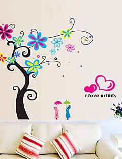 Wandaufkleber Wandtattoos Stil der romantischen Blume Baum PVC-Wandaufkleber