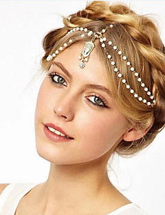 White Bead Headbands