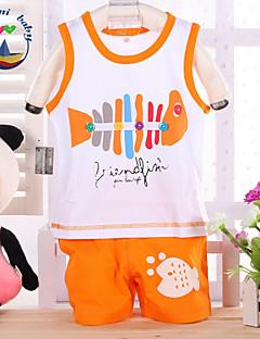 Boy's Cotton Blend Clothing Set,Summer