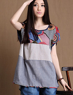 Women's Summer New National Style Casual Short Sleeve Loose T-shirt