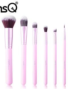 msq® 6pcs rosa deriva pennello trucco set + st06p