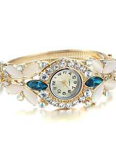 Dame Moteklokke Armbåndsur Imitasjon Diamant Quartz Legering Band Armring Elegante klokker Gylden