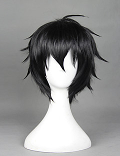 Cosplay Wigs Seraph of the End Cosplay Black Short Anime Cosplay Wigs 32 CM Heat Resistant Fiber Male / Female