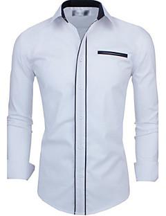 Afslappede skjorter ( Bomulds Blanding ) MEN - Casual Trøje Krave - Lang Ærmet