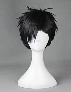 Cosplay Wigs Cosplay Cosplay Black Short Anime Cosplay Wigs 30 CM Heat Resistant Fiber Male / Female