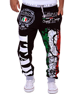 Men's Casual Trousers Personalized Italian Flag Printing Pants