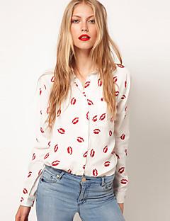 Camicia Da donna Colletto Manica lunga Nylon
