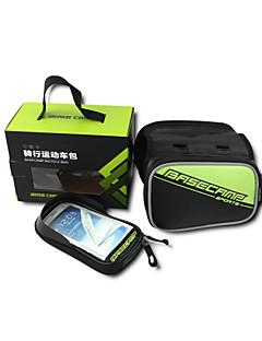 Bolsa para Quadro de Bicicleta (Verde / Vermelho / Azul , Pele PU)Á Prova-de-Água / Á Prova-de-Chuva / Lista Reflectora / Prova-de-Pó /