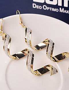 Women's Drop Earrings Fashion Costume Jewelry Alloy Waves Jewelry For Wedding Party Daily Casual
