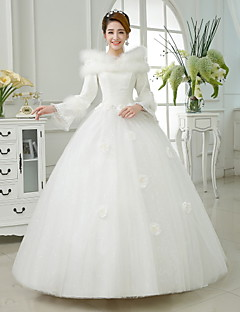Ball Gown Floor-length Wedding Dress -Jewel Satin