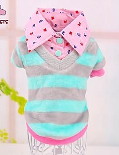 Manteaux/T-shirt - Chiens/Chats - Mariage/Cosplay - Bleu/Incanardin - en Coton/Polaire -