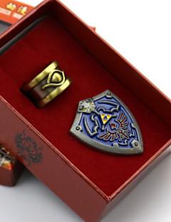 תכשיטים / תג קיבל השראה מ The Legend of Zelda קוספליי אנימה / משחקי וידאו אביזרי קוספליי תג כחול סגסוגת זכר