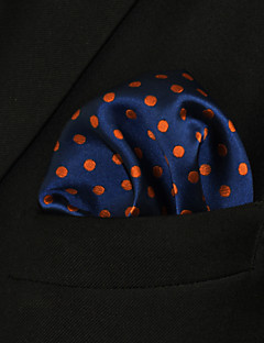 UH5 Shlax&Wing Large Pocket Square Blue Dots Dotty Mens Hankies Hanky Fashion