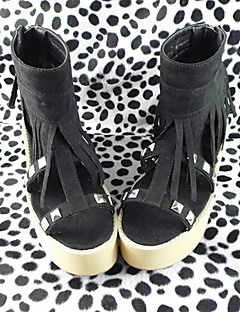 Handmade Black 6cm High Heel Classic Lolita Shoes