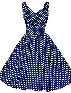 50s de Maggie espiga mulheres do vintage às bolinhas rockabilly Hepburn vestido balanço negócios pinup, plus size