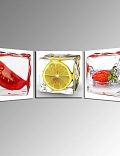vihannesten ja hedelmien sitruunan kankaalle seinälle keittiön sisustus valmis roikkumaan