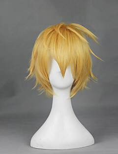 Cosplay Wigs SoulEater Cosplay Yellow Short Anime Cosplay Wigs 30 CM Heat Resistant Fiber Male / Female