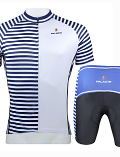 Cycling Jersey with Shorts Men's Short Sleeve BikeBreathable / Quick Dry / Ultraviolet Resistant / Insulated / Moisture Permeability /