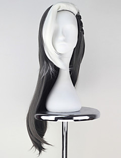 Cosplay Wigs Cosplay Cosplay Black Medium Anime Cosplay Wigs 75 CM Heat Resistant Fiber Male / Female