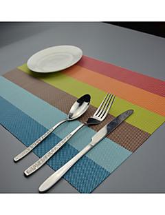 """2kpl european tyyli laadukkaita pvc ruokailu lasinaluset pöytäsetit (12 """"x18"""")"""