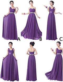 Mix & Match Dresses Floor-length Chiffon 3 Styles Bridesmaid Dresses (3789852)