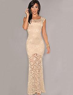 Women's Round Neck Dress , Lace Maxi Sleeveless