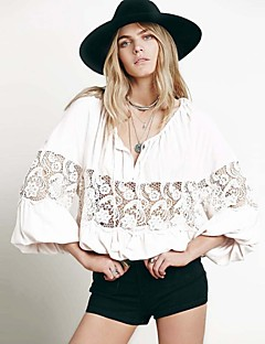 Women's Sexy Beach Casual Party Plus Size Lace Carving Loose Shirt