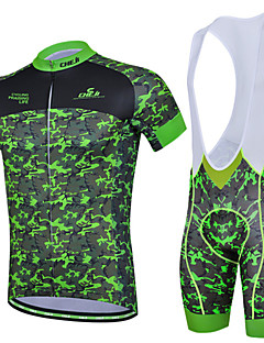Cycling Jersey with Bib Shorts Men's Short Sleeve BikeBreathable / Quick Dry / Ultraviolet Resistant / Insulated / Moisture Permeability