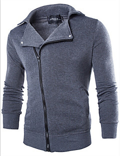 care,Men's Stand Sweats & Hoodies , Cotton / Rayon Long Sleeve Vintage / Casual Fashion Winter / Spring / Fall care
