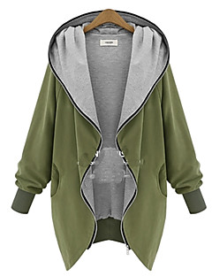 Women's Casual/Daily Active Coat Long Sleeve All Seasons