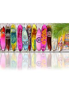 VISUAL STAR®Surfboard Wall Art Beach Decor / Beach Art Wall Decor/Surfboard Stretched Canvas Printing