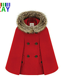 ZAY Women's Smart Fur Hoodied Long Sleeve Loose Cape Coat